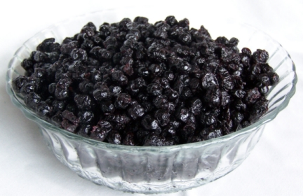 Sugar infused huckleberries