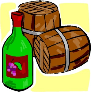 Wine Casks & Bottle