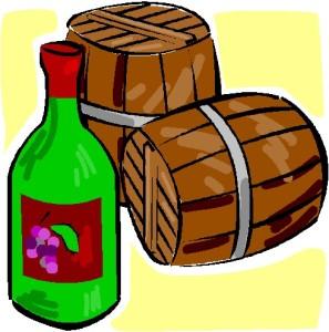 Wine Casks & Bottle