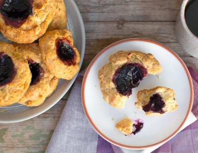 Huckleberry Jammers (or Thumbprint Cookies)